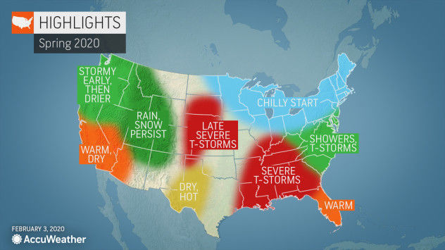AccuWeather spring 2020 forecast