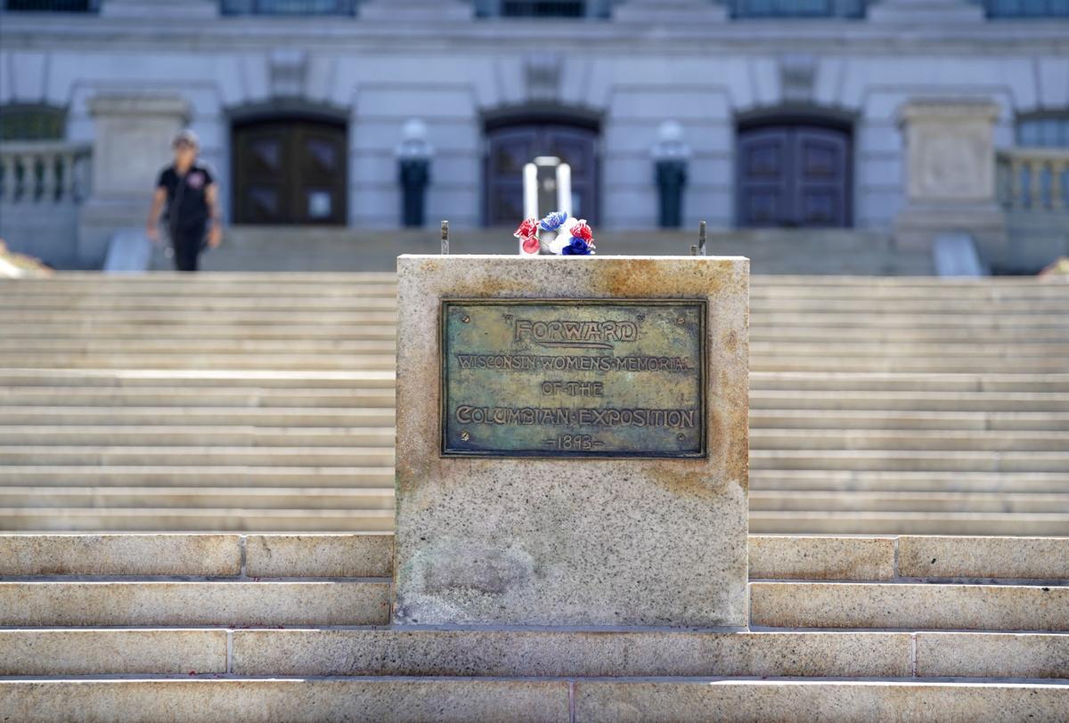 """Forward"" statue"