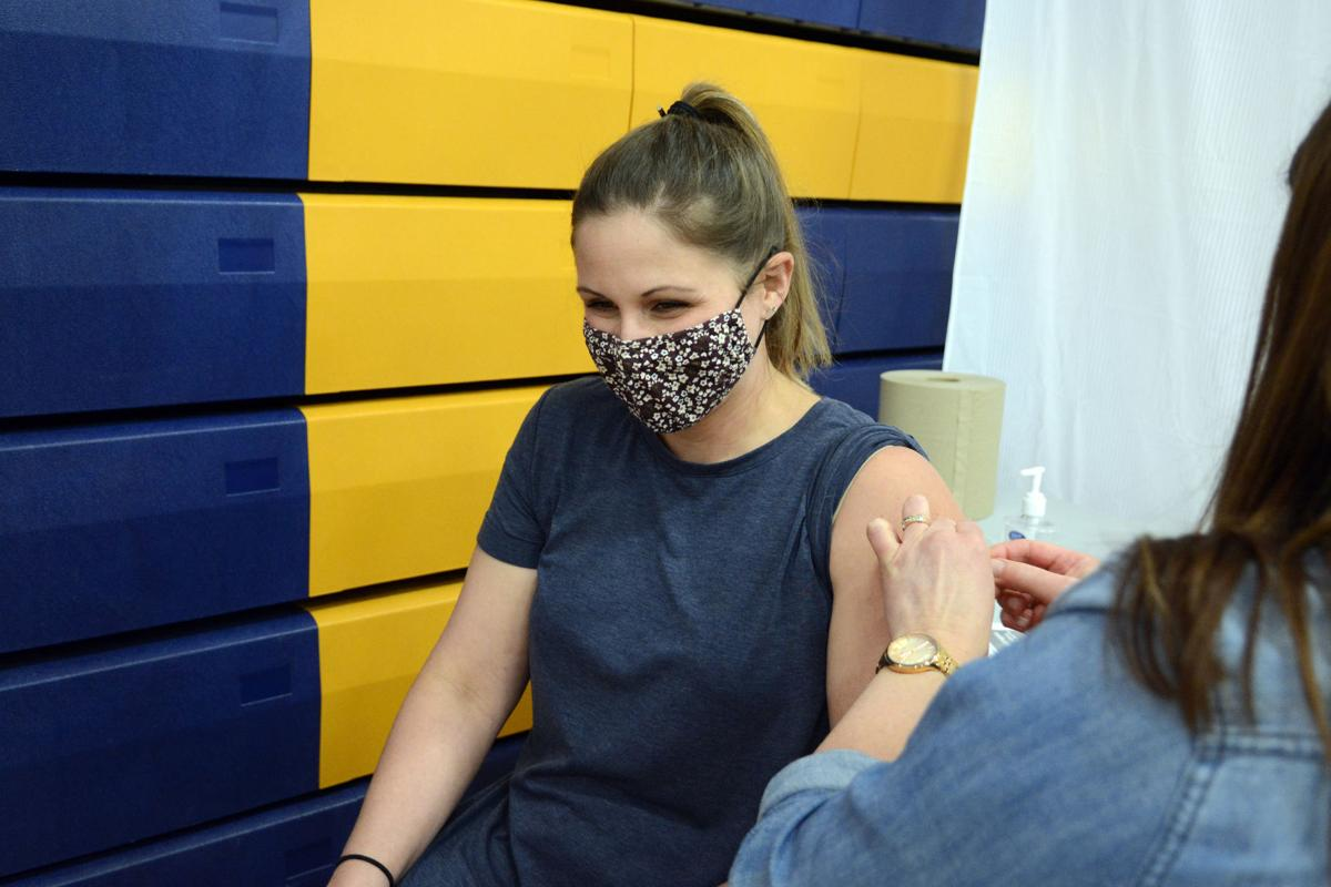 Katie Beckwith vaccinated