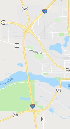 Interstate 39 construction map