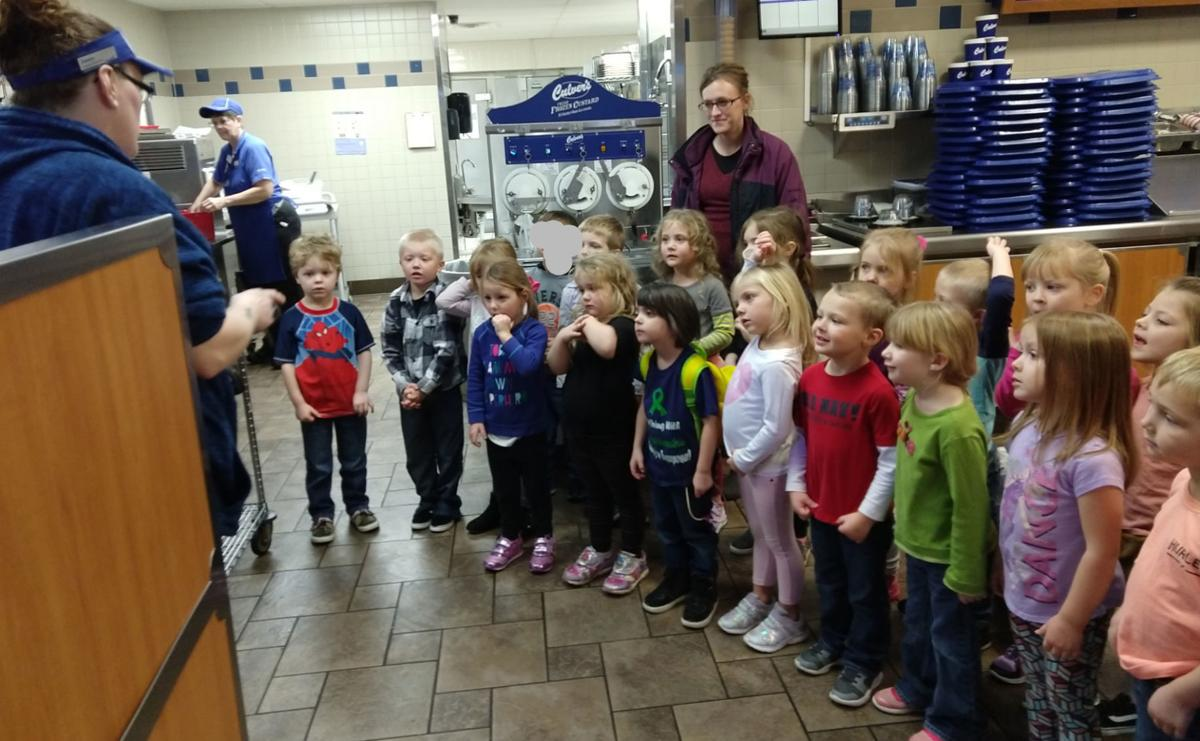 Mauston 4-K students get hands on tour at Culver's