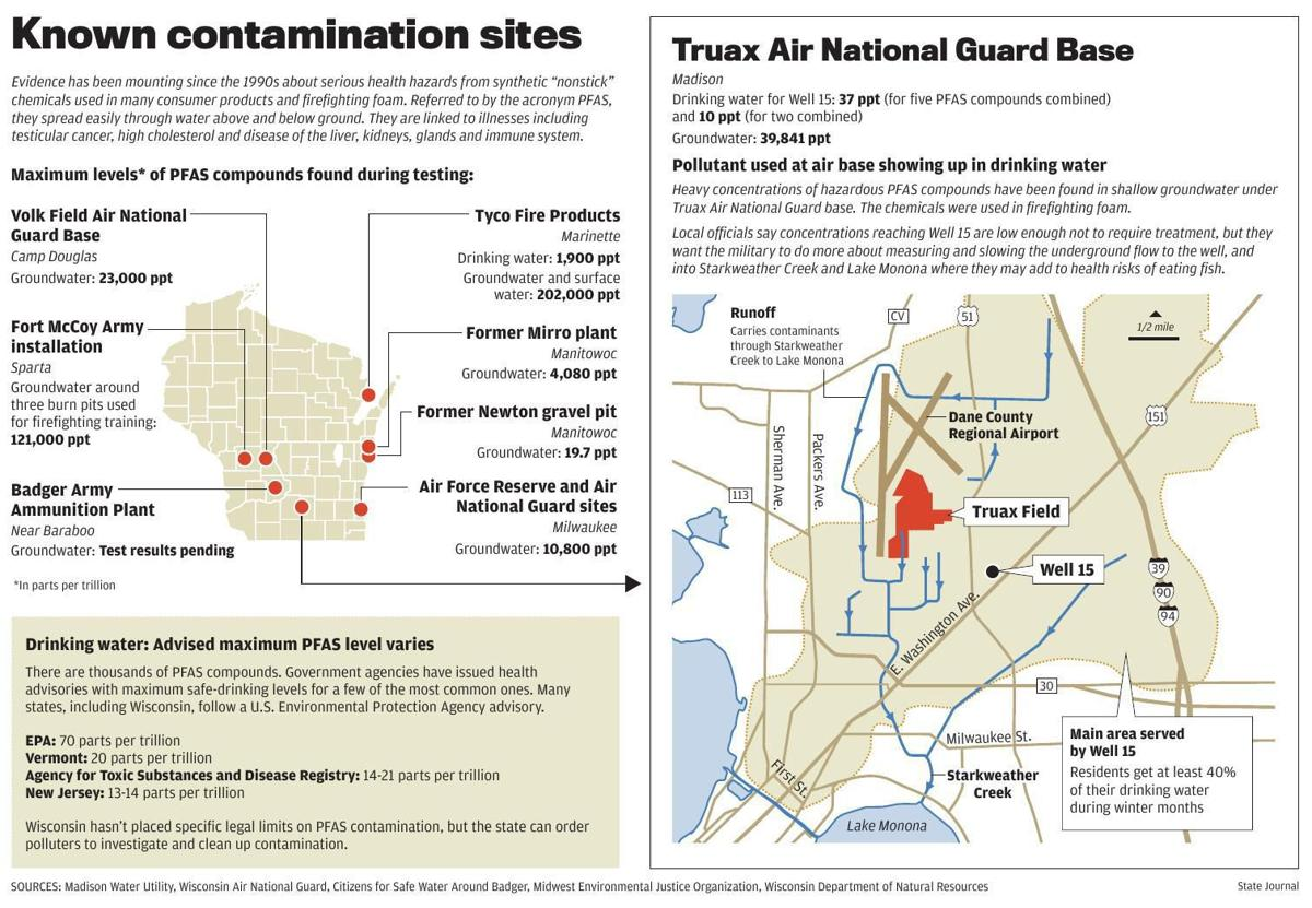 PFAS contamination map | State-and-regional | wiscnews.com on map code, map medical term, map centerpiece, map benelux belgium,
