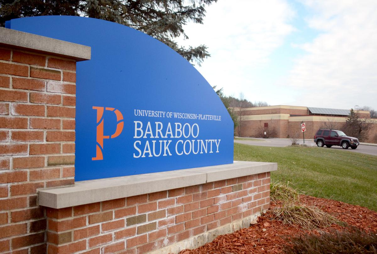 University of Wisconsin-Platteville Baraboo Sauk County sign web