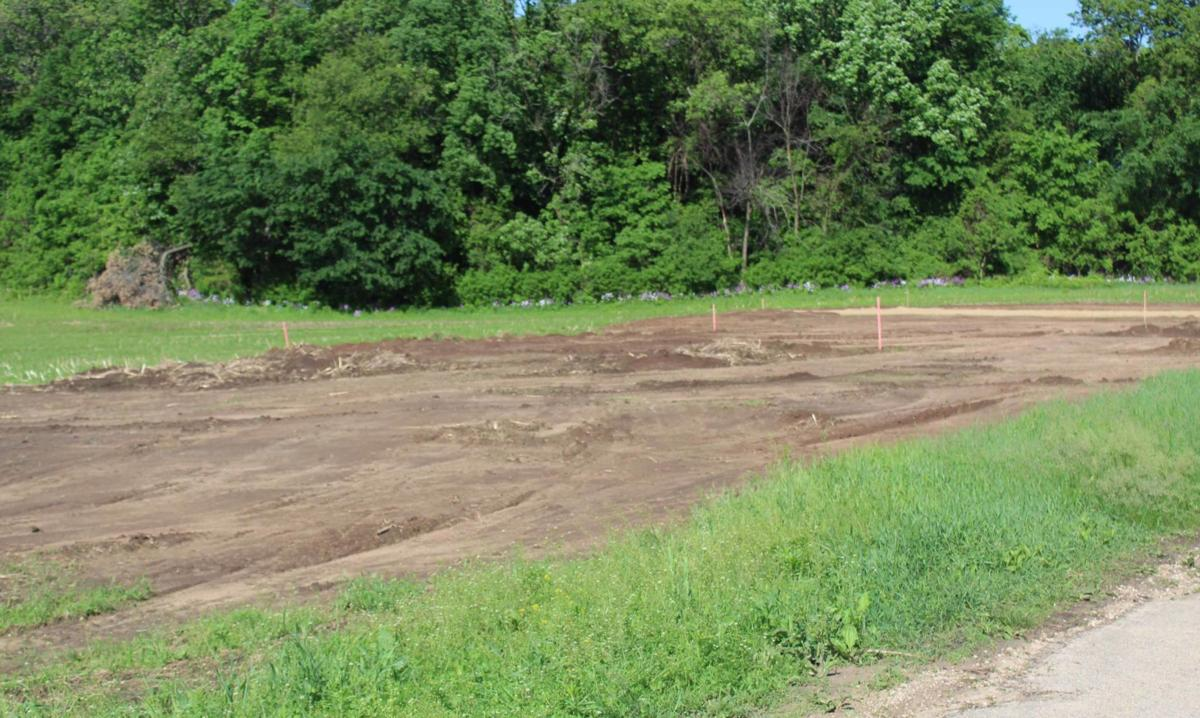 Site of playground and basketball court development in Reedsburg