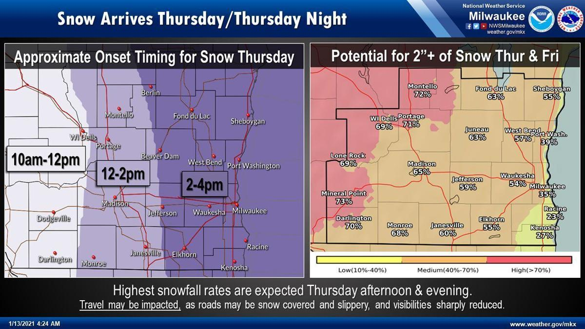 Snow Thursday-Friday by National Weather Service