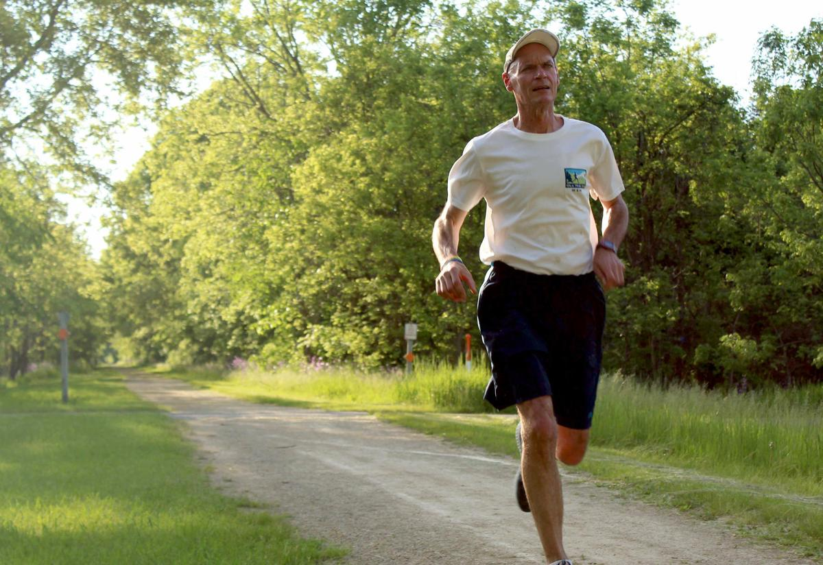 Michael runs on 400 State Trail