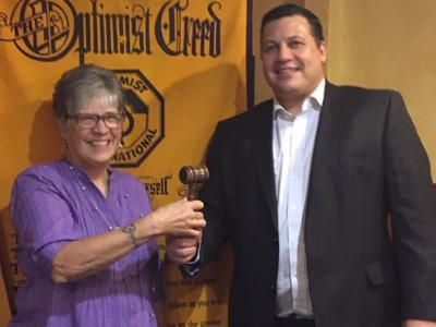 Optimist Club passes the gavel to new president