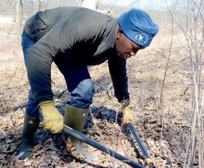 Wanyoike Wamiti helps in cleanup