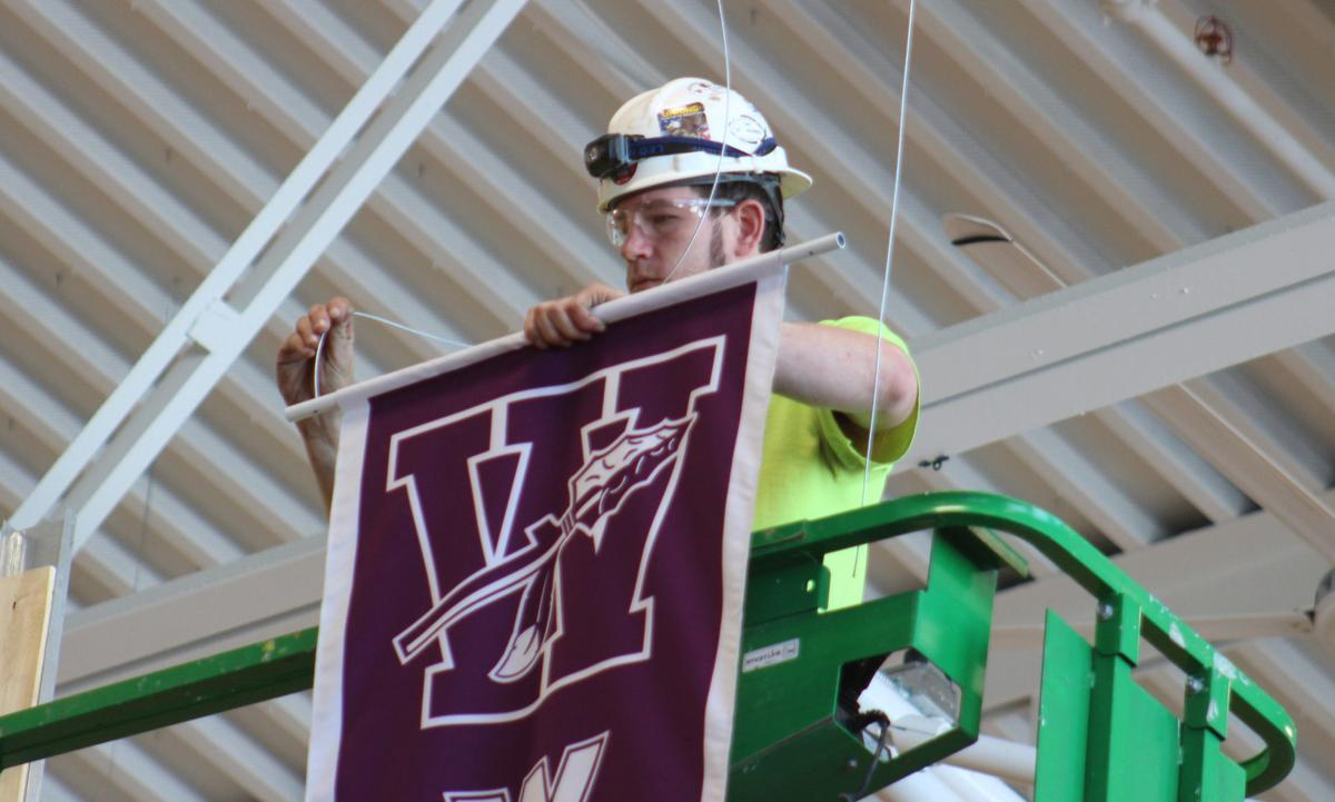 BDHS boosters purchase banners in field house