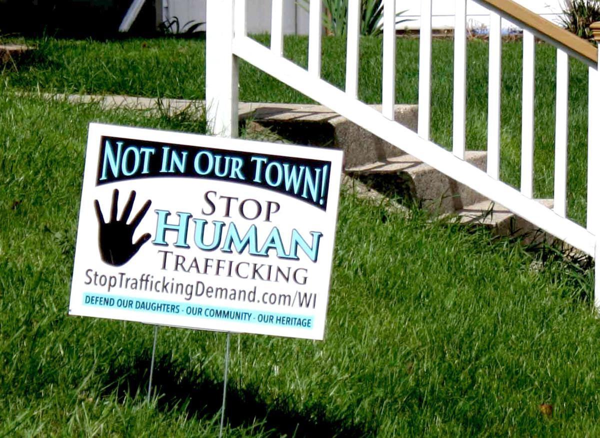 Stop Human Trafficking sign