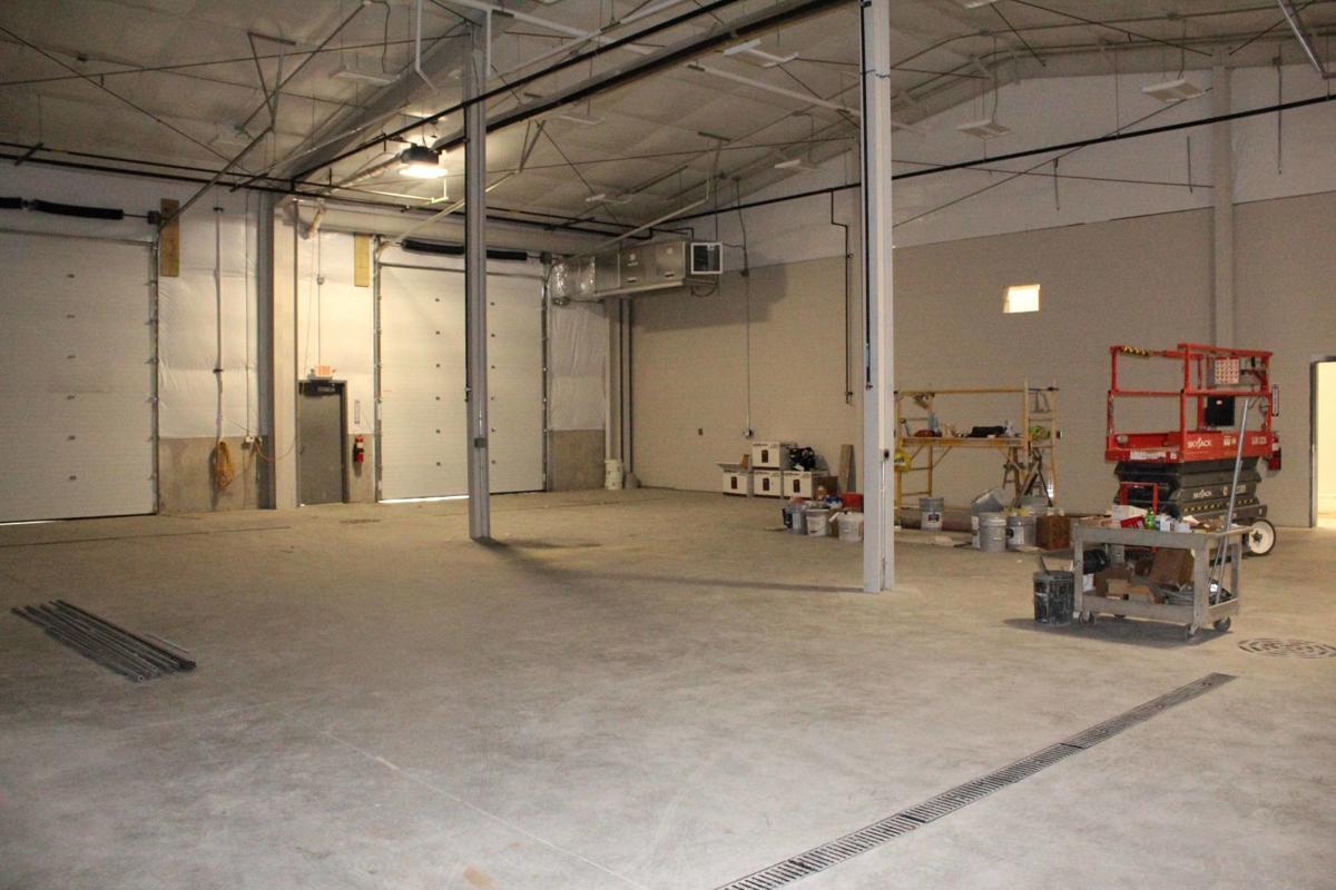 Maintenance area of shop