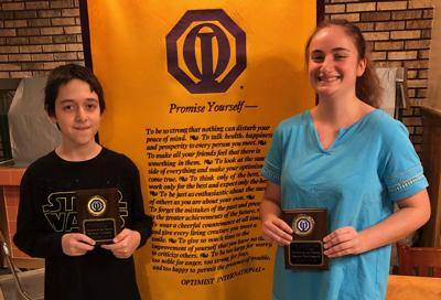 Optimists recognize students of the month