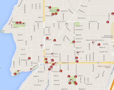 Map: Pokemon in Dodge County   Regional news   wiscnews com