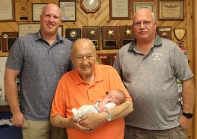 Four generations celebrate