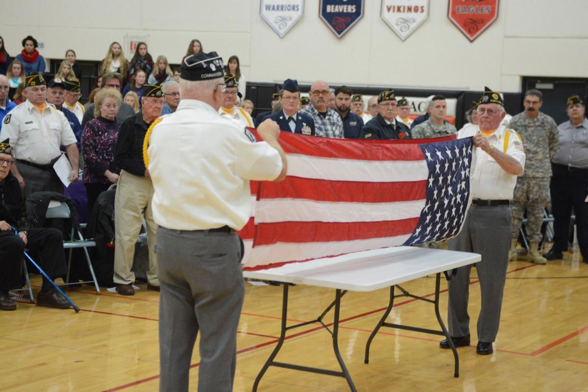 Vets flag folding