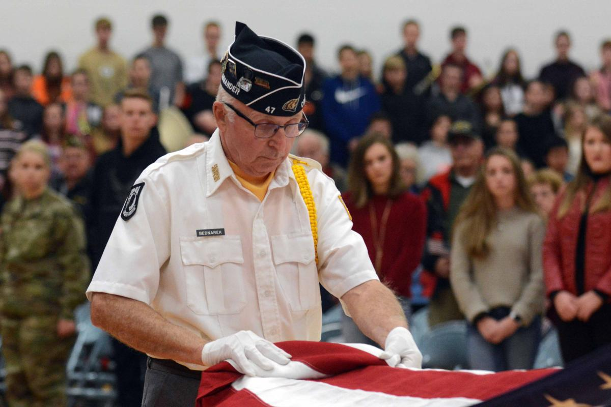 Portage High School Veterans Day ceremony 2019