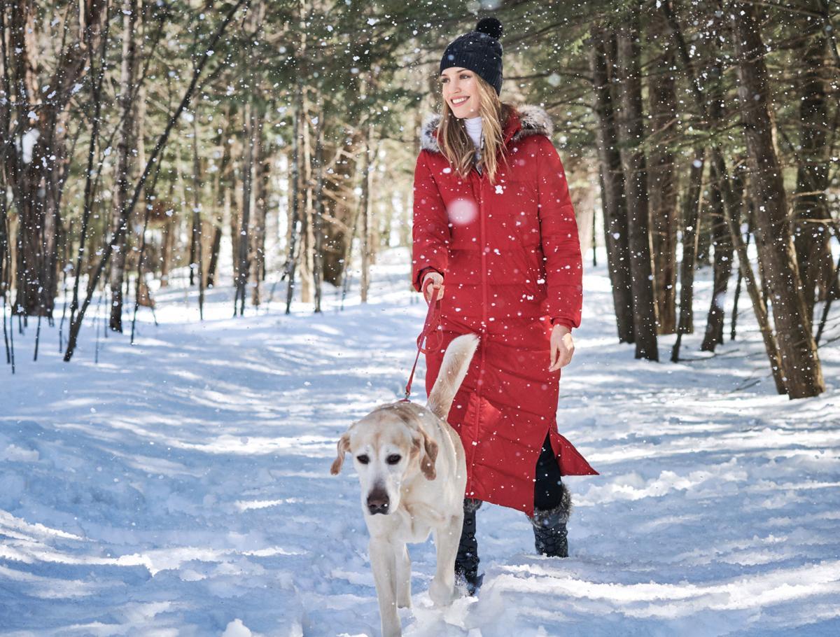 Lands End Womens Faux Fur Hooded Down Winter Long Coat