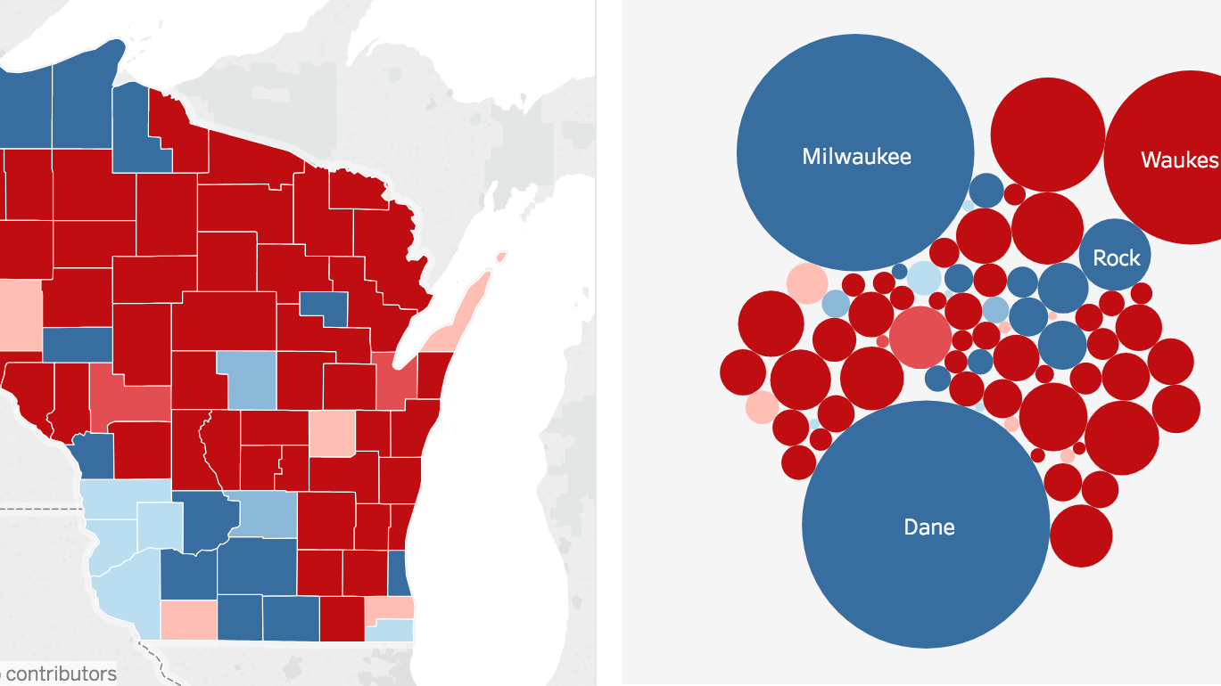 Map Governor election results State and regional