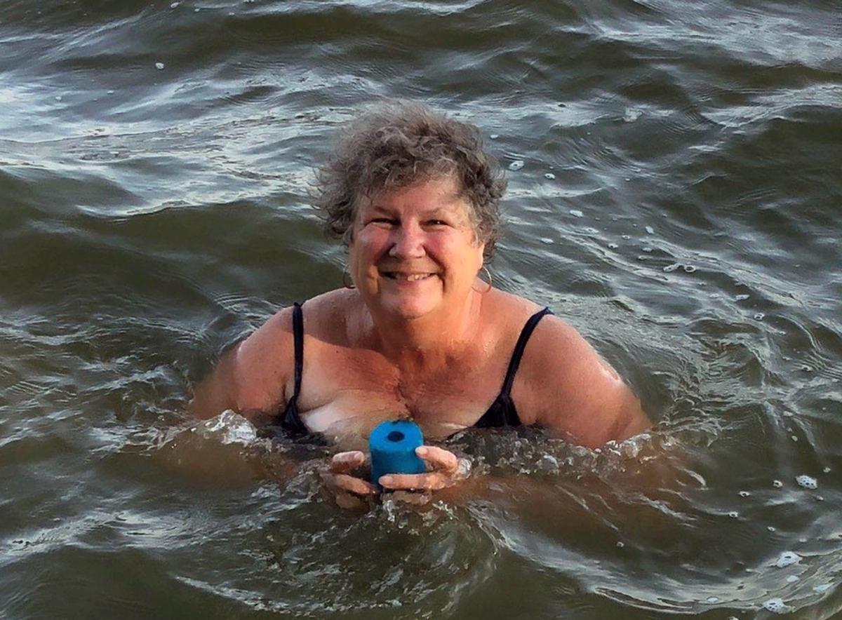 Tina Swain swimming