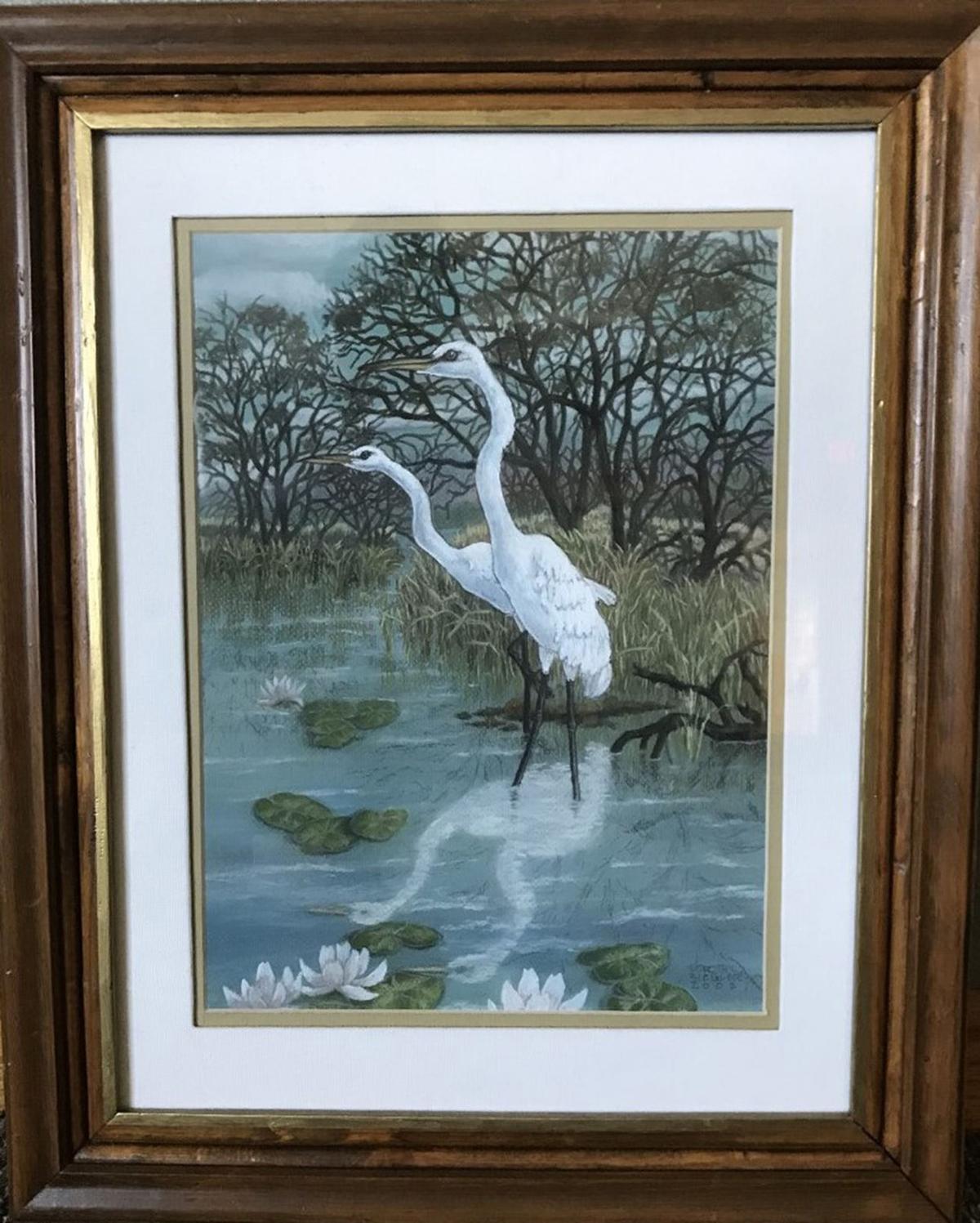 'Egrets,' by Dorothy Ziegler