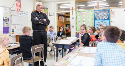 Bishop Donald Hying visits St. Aloysius