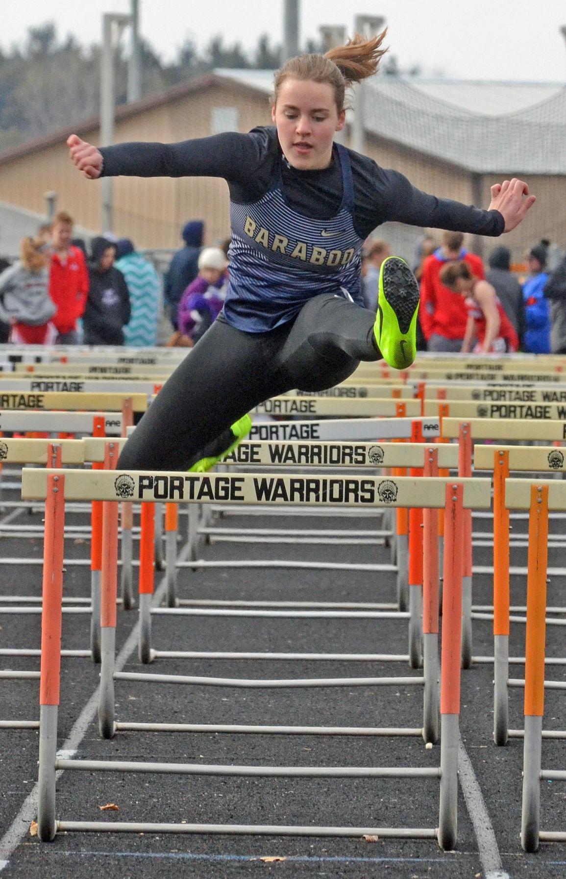 Laura Fredrick hurdles