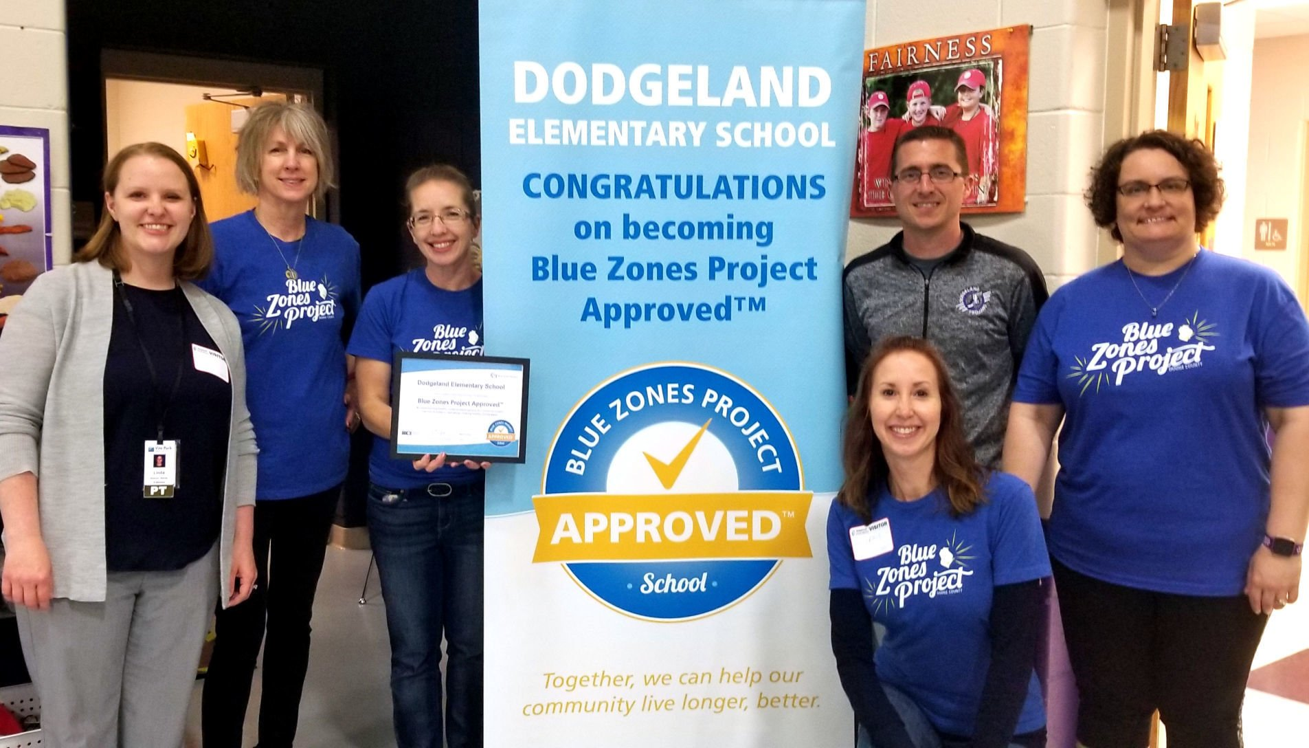 Dodgeland Elementary designated as Blue Zones approved