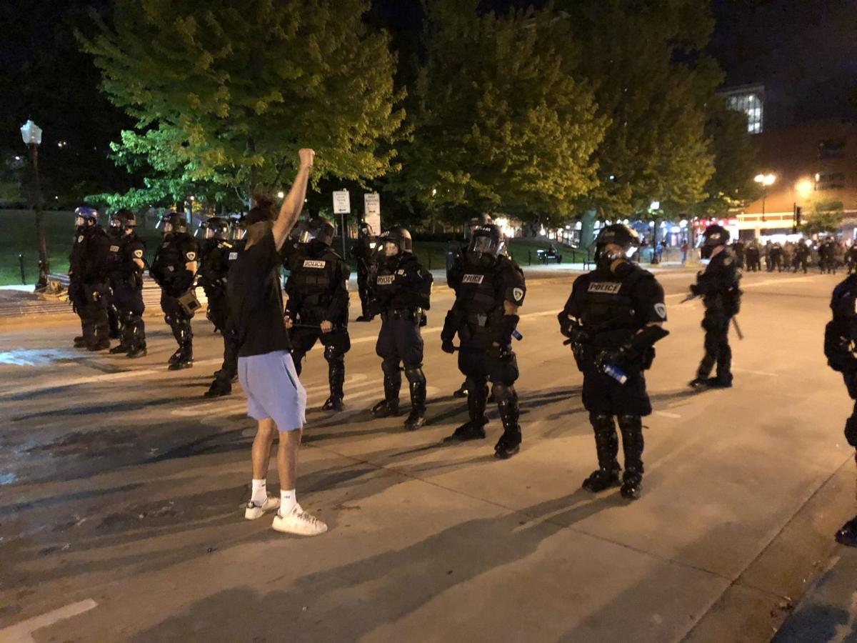 Hundreds defy curfew in Downtown Madison