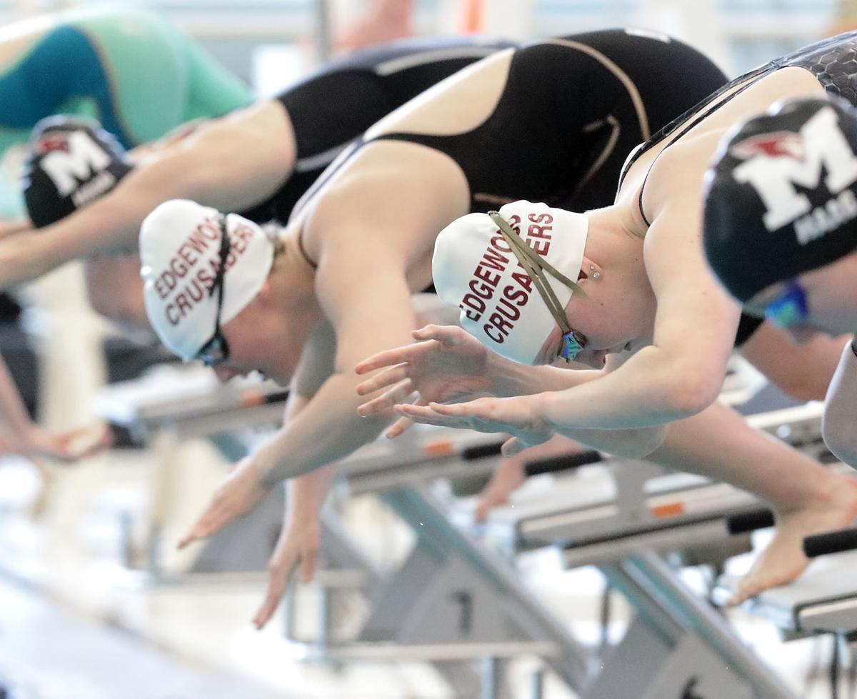 Prep girls swimming: Edgewood's Izzy Enz and Brynn Stacey