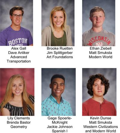 Reedsburg December students of the month