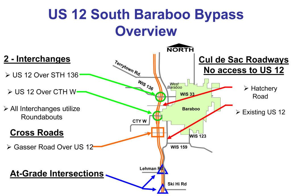 Bid Awarded For Highway Bypass Regional News Wiscnewscom - Us highway 12 map