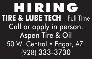 Aspen Tire & Oil  Help Wanted