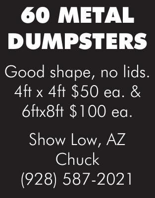 60 Metal Dumpsters