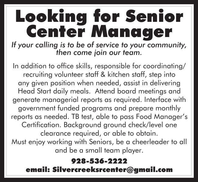 Silver Creek Senior Center Manager