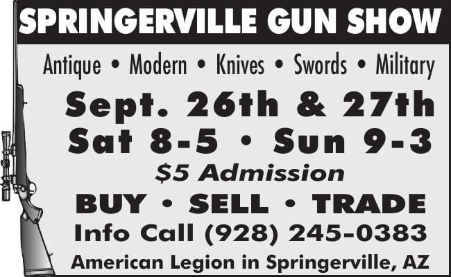 Watkins - Gun Show Springerville Sept