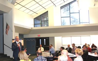 Blue Ridge meets  -Dr. Wright speaking