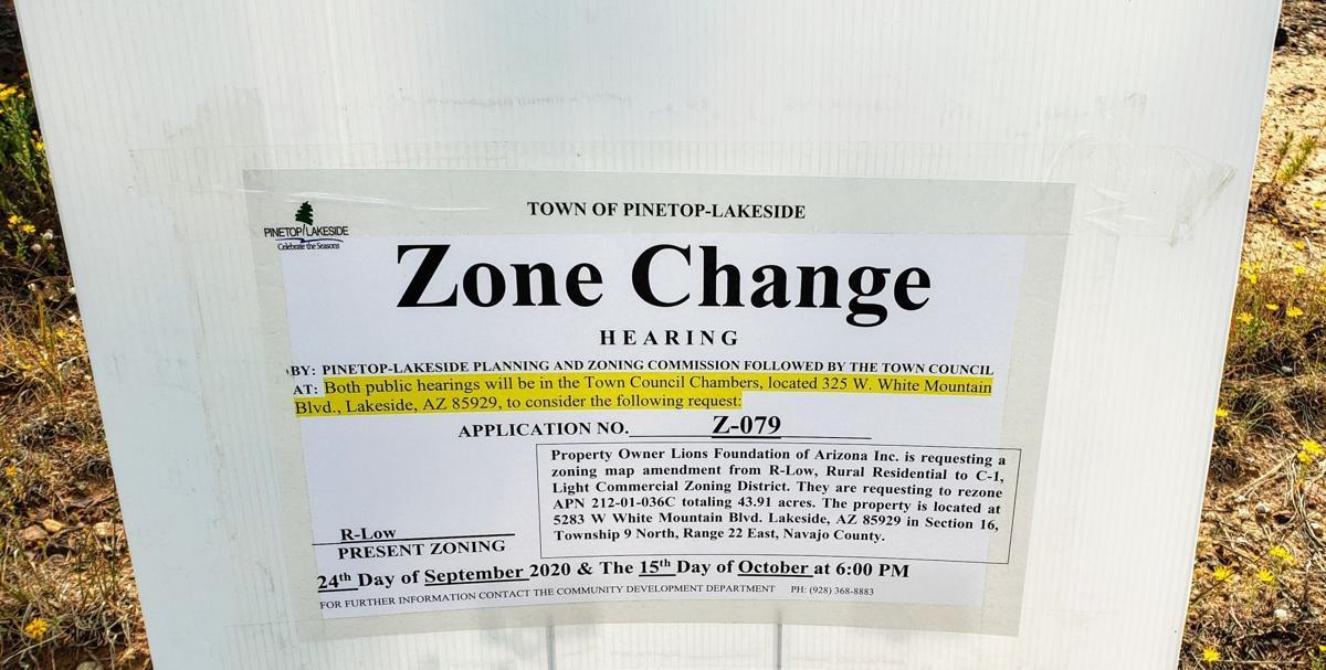 Lions Foundation of Arizona, Inc. seeks a re-zone