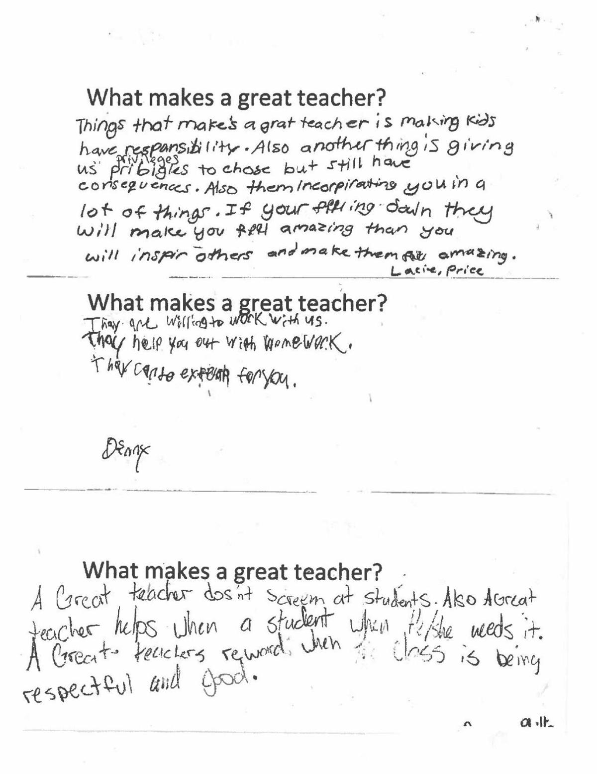 What makes a great teacher page 2