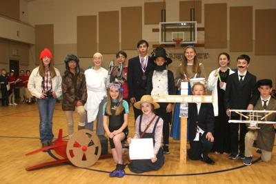 Students create living history museum - group photo