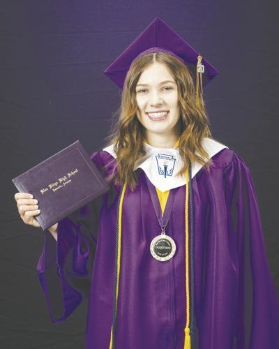 "Opportunity ""Knox"" - pic of Gretchen in her cap and gown"