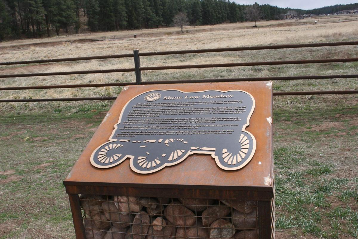 Trail sign/commemorative plaque