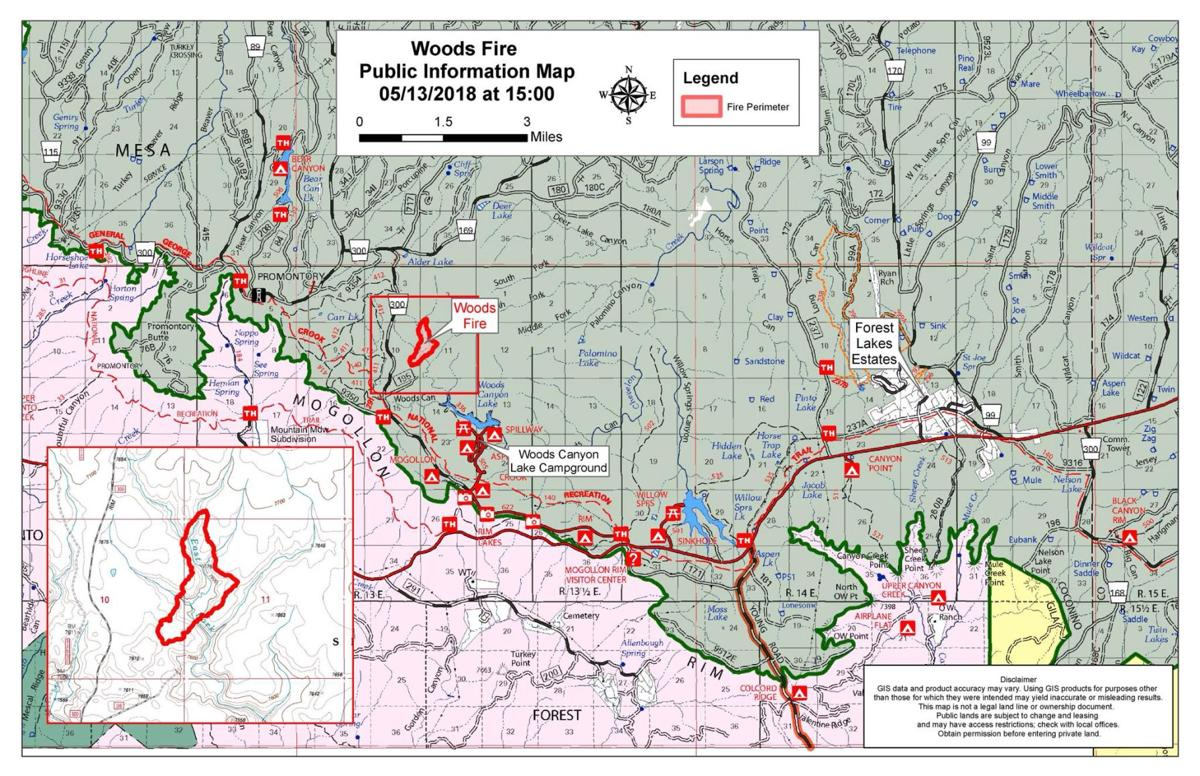 Update On The Woods Fire For Sunday News Wmicentral Com