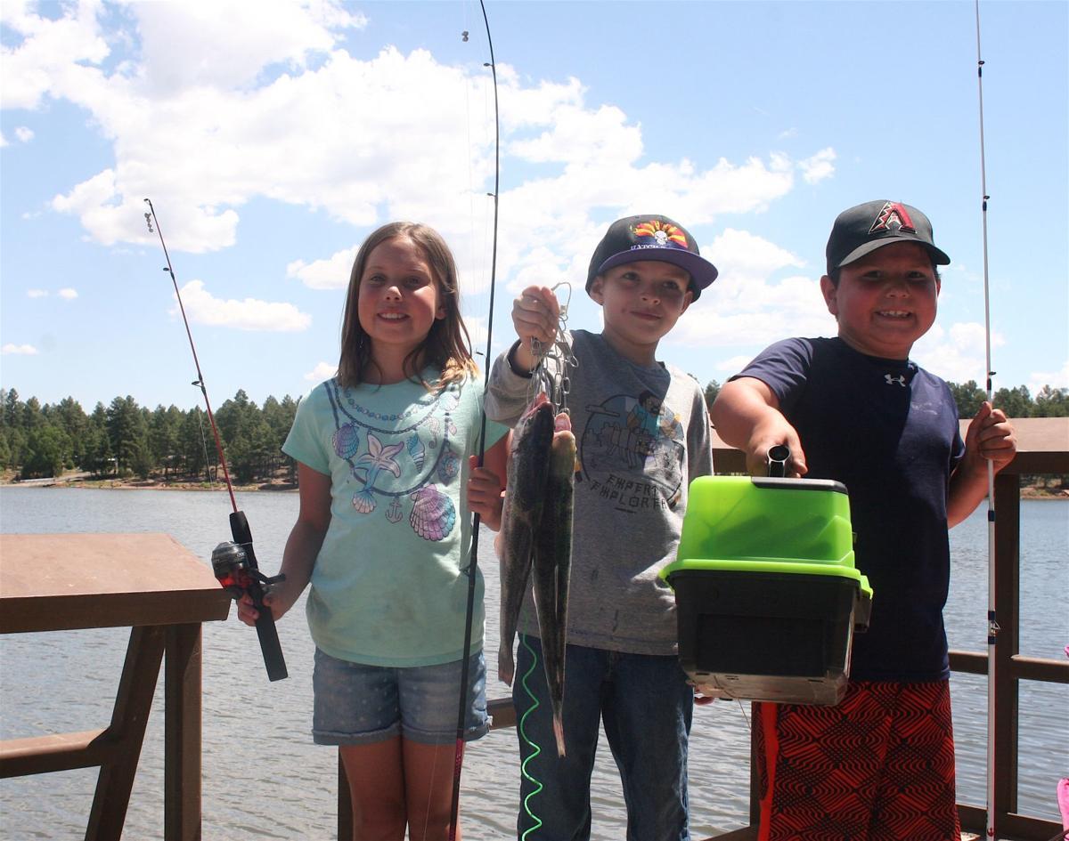 Kids Fishing Derby - 3 kids on the dock