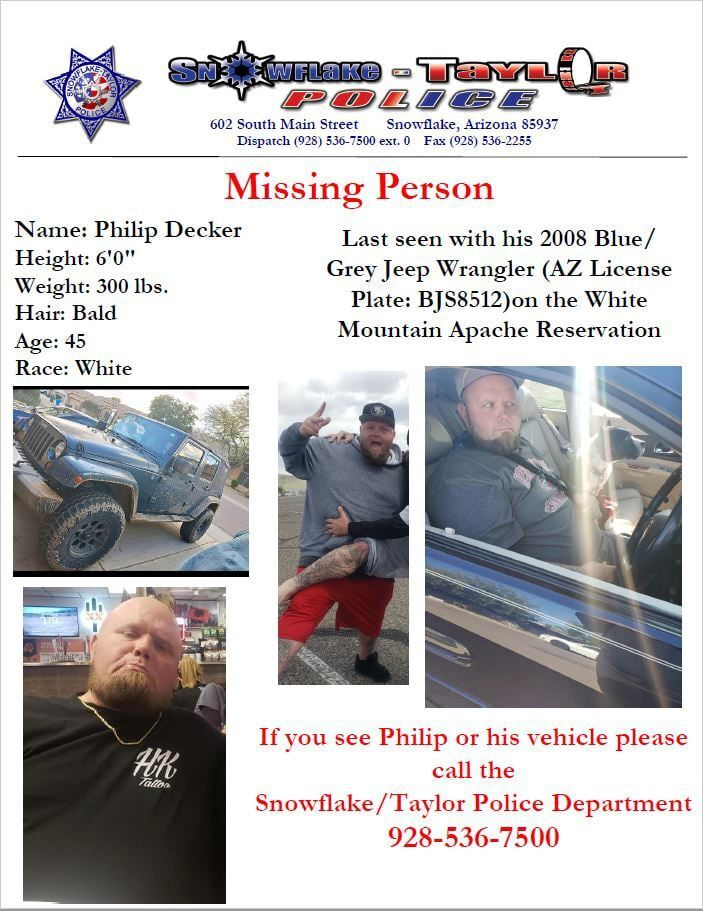 Missing man flyer from STPD