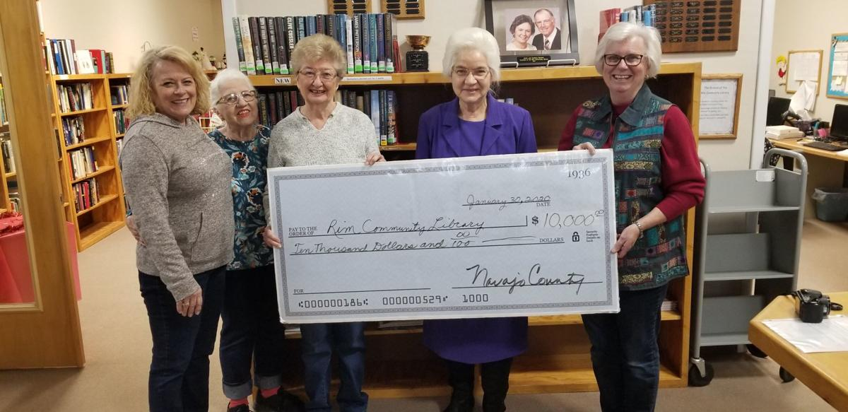 Navajo County Library District donates to local libraries