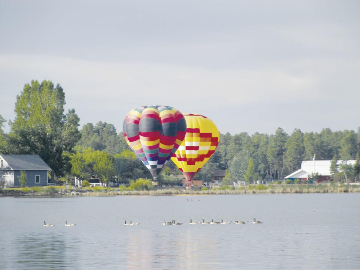 Two balloons over Rainbow Lake