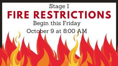 Stage 1 Fire Restrictions begin