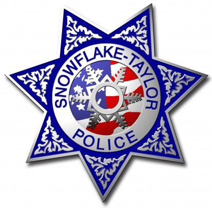 Snowflake-Taylor Police Dept badge