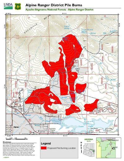 Alpine Ranger District plans pile burns through March 15