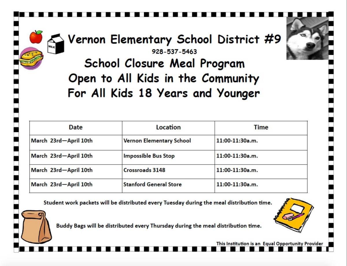 Vernon Elem school meals 3-25-20